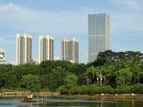 休闲龙潭公园建筑摄影