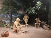 古代百姓日常生活雕像
