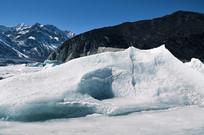 冰川雪地风景