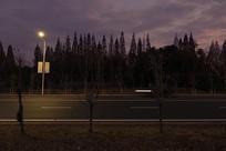黄昏的风景马路