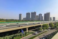 济南西部新城二环西路高架桥
