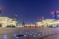 济南西站广场夜景