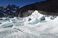 雪地冰川风景