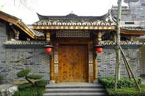 成都洛带博客小镇中式庭院门楼
