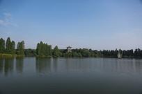公园湖光景色