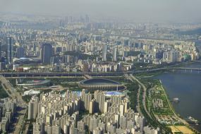 乐天世界俯瞰首尔蚕室体育馆