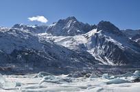 西藏冰川雪山风景