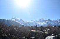 来古冰川雪山风景