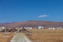 蒙古包草原风光