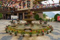 重庆巫山摩天岭居住区庭院风光