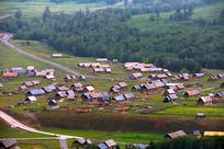 密集木屋新疆喀纳斯