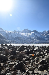 冰川雪山风景