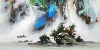 酒店装饰新中式山水画