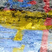 后现代抽象几何色块油画