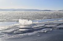 结冰的湖泊