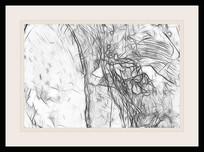 现代黑白抽象装饰画
