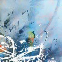 现代简约色块抽象油画