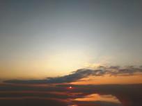 云海落日余晖