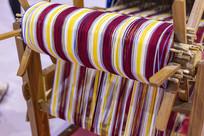 纺织车上的纺线