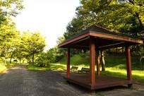 韩国水原孝园公园的韩式亭子