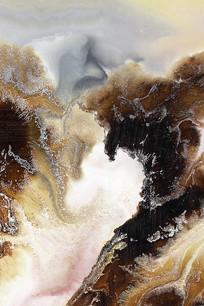 水墨山水艺术壁画