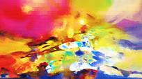 五光十色抽象油画