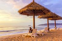 大海沙滩休闲椅