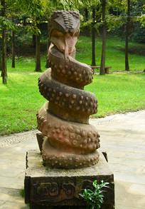 生肖蛇石雕雕塑