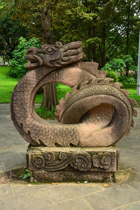 十二生肖龙石雕雕塑