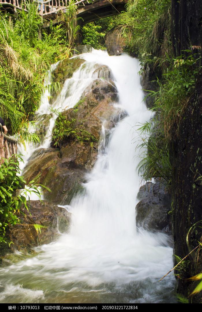 白水寨瀑布图片