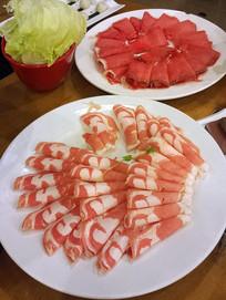 北京口福居涮羊肉火锅配菜