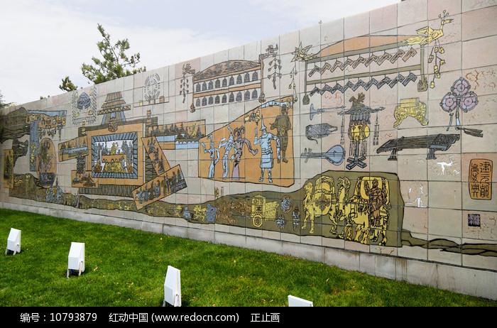 北京元大都历史场景浮雕墙图片