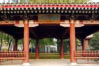 北京元土城遗址公园-紫薇入画亭