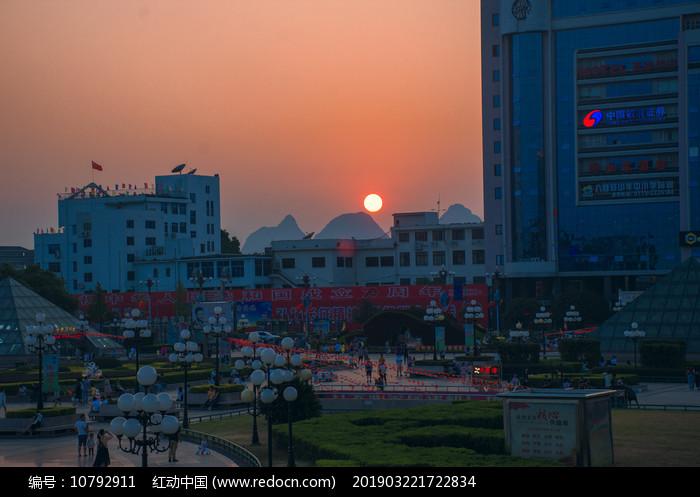 桂林夕阳图片