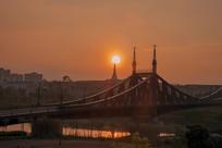 康桥夕阳美景