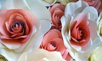仿真玫瑰花背景墙