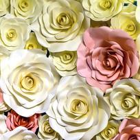 玫瑰花立体背景墙