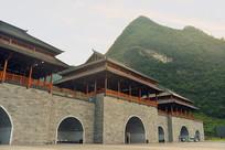 贵州荔波小七孔景区仿古建筑