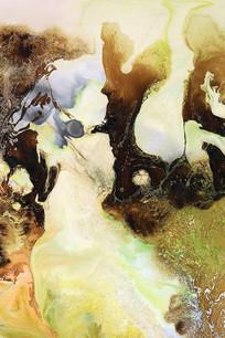 抽象流体水墨画