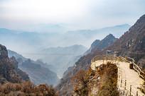 中国河北省白石山景区的走道