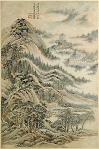 古代名画 -清代王时敏仿杜甫诗意图册