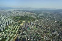 俯瞰韩国首尔奥林匹克公园