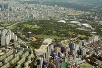 韩国首尔奥林匹克公园俯拍