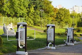 韩国孝园公园公共场所健身设施