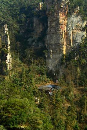 张家界森林公园乌龙寨险峻地形 JPG