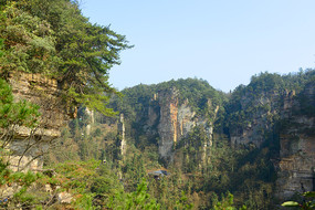 张家界森林公园杨家界自然风光 JPG