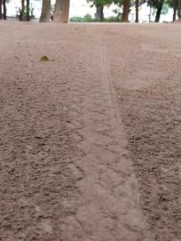 道路车轮痕迹
