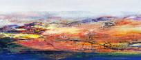 山水意境风景油画