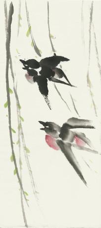 春燕水墨画