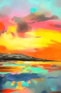 打印喷绘抽象油画